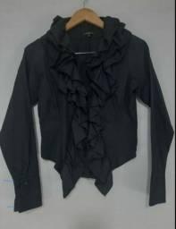 Camisa preta com Jabort