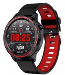 Relógio Smartwatch L8 a prova dágua Mede pressão recebe notificações