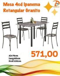 Título do anúncio: Mesas 4 Cadeira