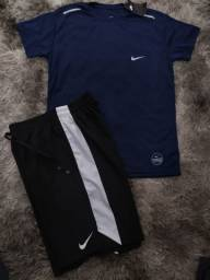 Kit Bermuda + Camisa Dry Fit Nike