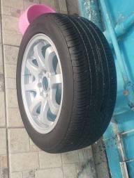 jogo de roda 15 pneus 195 55