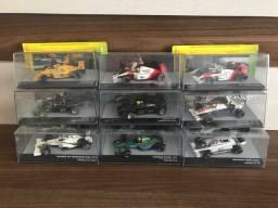 9 Miniaturas Lendas Brasileiras 1:43 - Ayrton Senna - McLaren - Lotus