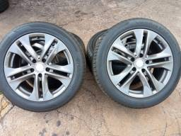 Jogo de roda e pneus praticamente zero aro17 Mercedes 180