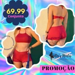 Título do anúncio: Conjunto Biquíni Shorts com Cropped P.M.G.GG