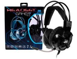 Headset Gamer Headphone 7.1 Canais Pc e Notebook Knup Kp464 P2 USB Super Bass
