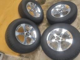 Título do anúncio: Rodas caminhonete, pneus 17 novos