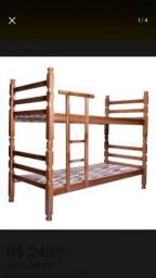 Beliche de madeira maciça