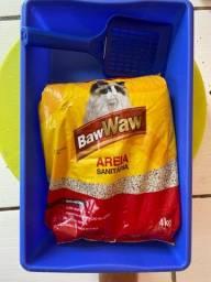 Caixa sanitária + pá + areia ( gatos)