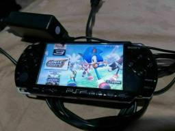Título do anúncio: PSP 2000 Sony 100 Jogos, Black Piano! Aceito-Propostas