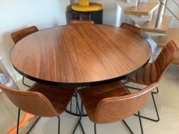 Mesa redonda de 6 a 8 lugares