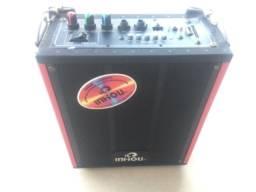 Caixa de som portatil Amplificada para Microfones