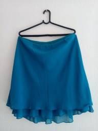Saia feminina azul