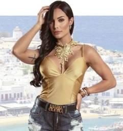 Blusa dourada Maria Gueixa
