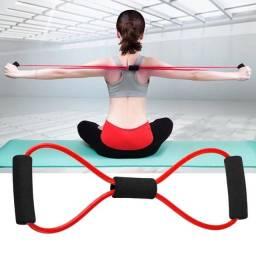 Elastico 8 Para Malhar Extensor Academia Treino Pilates Fit