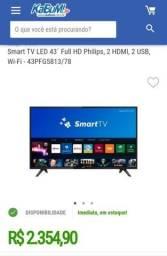 Título do anúncio: Smart tv Philips 43 - display quebraso