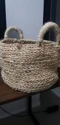 Título do anúncio: Cesto rústico artesanal em crochê.