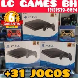 Título do anúncio: PS4 Slim 1TB/500GB +31 JOGOs +06 Meses Garantia - Loja Física