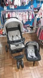 Título do anúncio: Carrinho de bebê + bebê conforto baby style