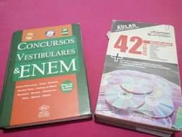 Livro para Enem e concursos 992 páginas e 42 dvds de aulas