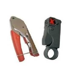 Kit Alicate para crimpar conectores de compressão e cortador de fio antena (Leia o anúncio