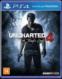 Jogo Uncharted 4 A Thief's End PS4, usado apenas 1 vez( em perfeitas condições)