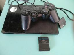 Ps2 Playstation Com 5 Jogos Entrego
