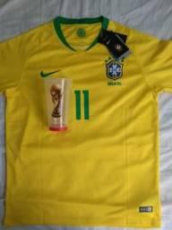 Camisa Brasil + Copo Oficial FIFA Word 2018