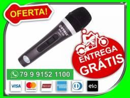 Microfone Com Fio Profissional Wg-198 Com Fio 5 De Metros enntrego de graça