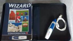 Livros Wizard conversation W2 e W4 com a caneta wizpen