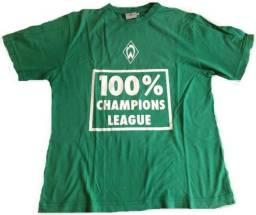 Camiseta Original Torcedor 100% Algodão Werder Bremen Champions League Tamanho M Zerada