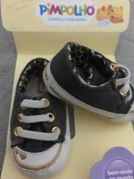 Tênis Bebê Pimpolho Jeans Black com Oncinha