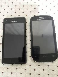2 celulares  para retirar peças  50reais