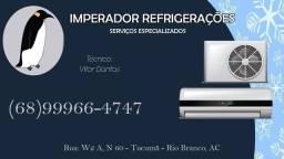 Imperador Refrigeração. Serviços especializados condicionadores de ar