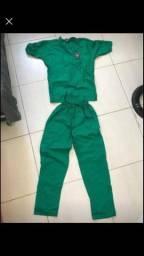 Pijama de bloco cirúrgico