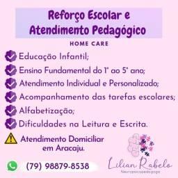 Reforço Escolar e Atendimento Pedagógico Home Care em Aracaju-Se.