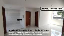 Título do anúncio: Apartamento Amplo no Centro de Goval - 1º andar / Frente p/ a Rua.