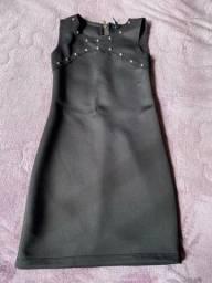 Vestido na cor preta marca tazza p/38