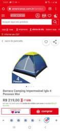 Barraca de campeng para 4 pessoas.