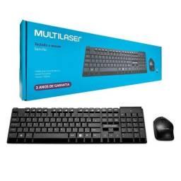 Título do anúncio: Teclado e mouse sem fio Multilaser