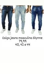 Calça jeans masculina Skynne