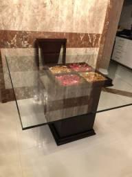 Título do anúncio: Mesa de jantar quadrada vidro