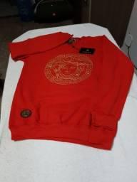 Camisa manga longa de moletom da Versace M, G e GG