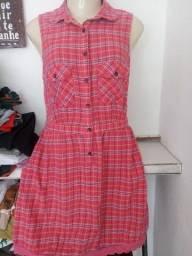 Vestido feminino cruzado rosa