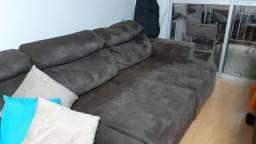 Título do anúncio: Vendo sofa marrom em suede retratil e reclinavel
