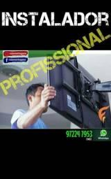 Instalação profissional de suportes TVs. Todos os modelos/polegadas. veja FOTOS / LEIA!