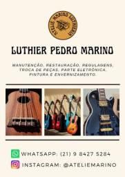 Título do anúncio: Conserto Regulagem Eletrônica Instrumentos Musicais Violão Guitarra Baixo Luthier