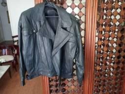 Jaqueta de couro preto Argentino legítimo