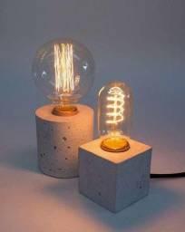 Luminária de concreto estilo industrial (promoção)