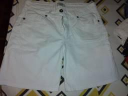 Bermuda branca jeans MARISA