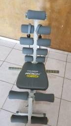 Cadeira e Aparelho de ginástica abdominal e musculação polishop rock gym